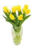 Tulpen in een vaas stock afbeelding