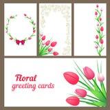 Tulpen, groetkaarten Royalty-vrije Stock Afbeelding
