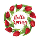 Tulpen Kranz, Blumen, hallo Frühling, Stockbilder