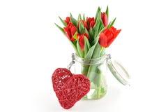 Tulpen mit Liebe Lizenzfreie Stockbilder
