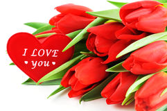Tulpen mit Liebe Stockfoto