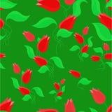 Tulpen op het groene gebied. Stock Foto