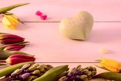 Tulpen und Hyazinthen Lizenzfreie Stockfotos