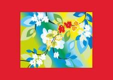 Tulpen und Winde auf einem weißen Hintergrund Lizenzfreies Stockbild