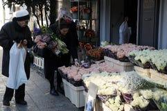 Tulpenbloemen het winkelen Stock Foto