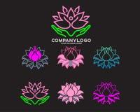 Tulpenblumenlogo lizenzfreie stockfotos