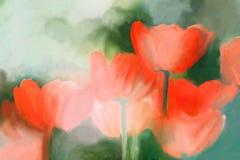 Tulpenmalerei stock abbildung