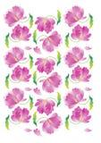 Tulpenmuster mit Blumen Stockbilder
