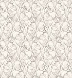Tulps pattern 1 Stock Photography