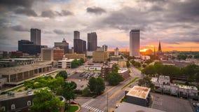 Tulsa, στο κέντρο της πόλης χρονικό σφάλμα της Οκλαχόμα, ΗΠΑ απόθεμα βίντεο