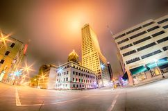Tulsa city skyline around downtown streets Royalty Free Stock Photography