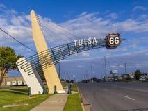 Tulsa Gate on historic Route 66 in Oklahoma - TULSA - OKLAHOMA - OCTOBER 17, 2017 Royalty Free Stock Images