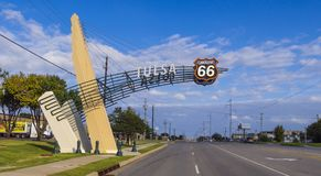 Tulsa Gate on historic Route 66 in Oklahoma. USA 2017 Royalty Free Stock Image