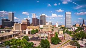 Tulsa Oklahoma, USA i stadens centrum Time Lapse stock video