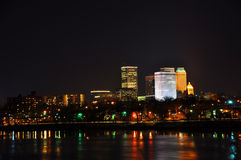 Tulsa skyline. Tulsa city skyline at night Royalty Free Stock Image