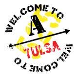 Tulsa stamp rubber grunge Royalty Free Stock Photo