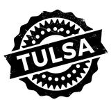 Tulsa stamp rubber grunge. Tulsa stamp. Grunge design with dust scratches. Effects can be easily removed for a clean, crisp look. Color is easily changed. rubber Royalty Free Stock Photo