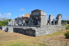 Tulu Archeologische Plaats Quintana Roo Mexico stock foto's
