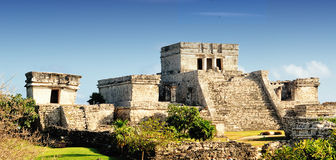 Tulum墨西哥玛雅废墟  免版税库存照片