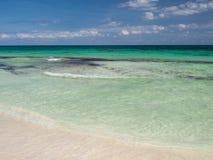 Tulum海滩在墨西哥 免版税图库摄影