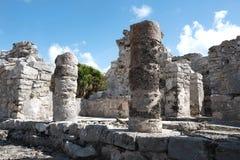 Tulum,墨西哥玛雅废墟  免版税库存图片