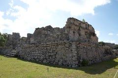 Tulum,墨西哥玛雅废墟  图库摄影