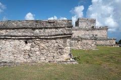 Tulum,墨西哥玛雅废墟  库存照片