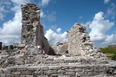 Tulum,墨西哥玛雅废墟  免版税库存照片