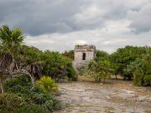 Tulum, Мексика, Южная Америка: [Руины Tulum старого майяского города, туристского назначения, карибского моря, залива, пляжа] стоковая фотография