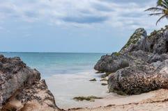 tulum Мексики пляжа Стоковое фото RF