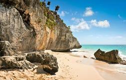 tulum Мексики пляжа Стоковые Фото