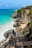 tulum Мексики пляжа Стоковая Фотография