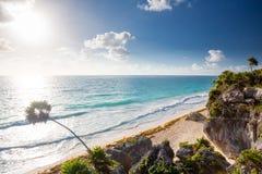 tulum Мексики пляжа Стоковая Фотография RF