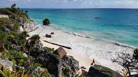tulum Мексики пляжа Стоковое Изображение