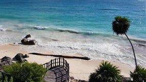 tulum Мексики пляжа Стоковые Изображения