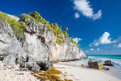 tulum Мексики пляжа Стоковые Фотографии RF