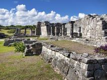 Майяские руины Tulum - Мексики стоковая фотография rf