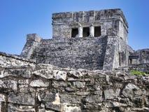 Майяские руины Tulum - Мексики стоковые фотографии rf