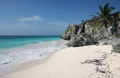 tulum пляжа Стоковые Фотографии RF
