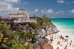Tulum, старый майяский город Стоковое Изображение