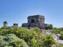 Tulum -墨西哥的玛雅废墟 免版税图库摄影