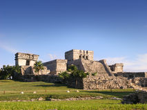 Tulum. A shot of Tulum a ruined mayan city in Mexico royalty free stock images