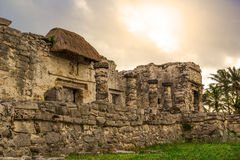 Tulum Ancient Maya Archeological Site in Yucatan Mexico Royalty Free Stock Photography