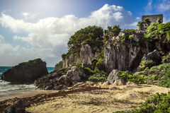Tulum Ancient Maya Archeological Site in Yucatan Mexico Royalty Free Stock Photo