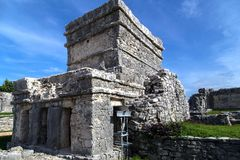 Tulum ancient temple Stock Photography