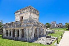 Tulum, archeological περιοχή στο Riviera Maya, Μεξικό Στοκ εικόνες με δικαίωμα ελεύθερης χρήσης