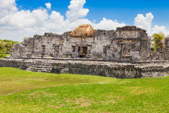 Tulum, archeological site in the Riviera Maya, Mexico. Site of a Pre-Columbian Maya walled city serving as a major port for Cob stock photo