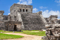 Tulum, archeological site in the Riviera Maya, Mexico. Site of a Pre-Columbian Maya walled city serving as a major port for Cob stock photography