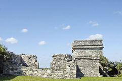 Tulum archeological site Royalty Free Stock Images