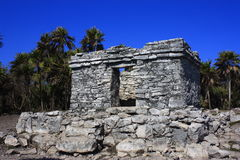 Tulum architecture. Ruins as part of the archaeological site of tulum in quintana roo, mexico Royalty Free Stock Image